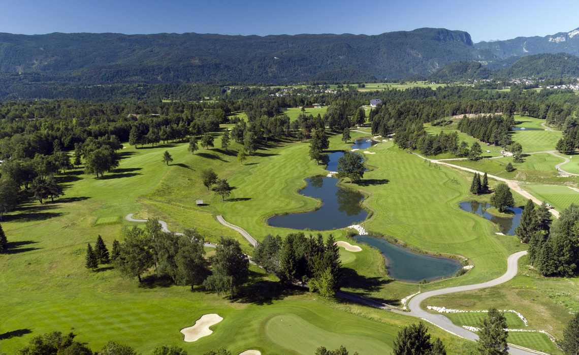 6th, 13th, 14th, 16h and 17th Hole on the King's Course, credit Royal Bled