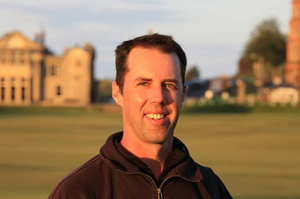 Scot Macpherson on the Old Course at St. Andrews