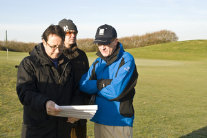 Senior Member Ross McMurray with the design team at Le Golf National preparing the course for the 2018 Ryder Cup