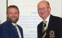 Tom Mackenzie passes EIGCA Presidency to Ross McMurray